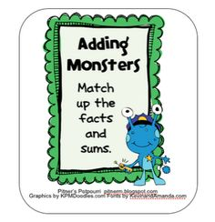 Classroom Freebies: Adding Monsters!
