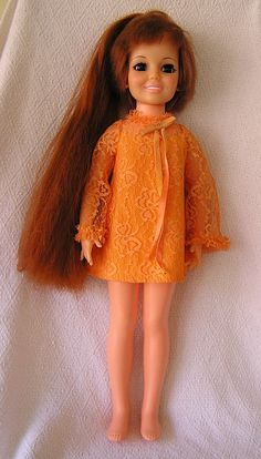 Chrissy Doll where her hair pulled from the top to become longer