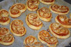 palmeritas de hojaldre de jamon y queso