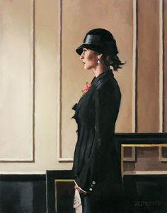 Jack Vettriano ~ La Femme au Chapeau Noir