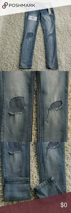 Bohemian Indigo Jeans Destructed Skinny Faded 7 Indigo Rein Destructed boho skinny jeans are too fashionable. They have two holes ripped right at the knee. You can show some skin but in the right area. Macy's collection Macy's Jeans Skinny
