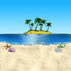The Beach Digi Stamp in Digital images
