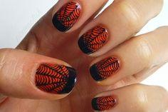 Halloween nail 2014, manicure metalliche e effetto sangue