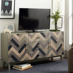 Parquetry Media Console | west elm