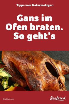Gans braten - so geht's Tipps Roast goose crispy - Here's how: How long does the goose take in the o Easy Meat Recipes, Hamburger Meat Recipes, Sausage Recipes, Whole 30 Recipes, Thai Recipes, Egg Recipes, Dinner Recipes, Easy Meals, Dessert Recipes