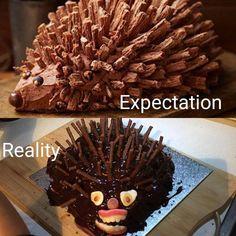 Show US Your Epically Hilarious Cake Fails - Modern Dairy Queen Cake, Baking Fails, Hedgehog Cake, Food Fails, You Had One Job, Pinterest Fails, Halloween Cakes, Vegan Cake, Buttercream Cake