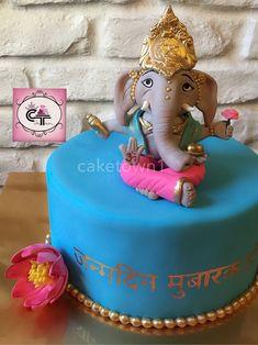 Ganesha cake by Diwali Inspiration, Indian Baby Showers, Wedding Gift Wrapping, Elephant Cakes, Birthday Cake Girls, Pasta Flexible, Girl Cakes, Cake Designs, Amazing Cakes