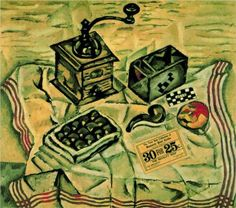 Joan Miro (1893 - 1983) | Fauvism |  Still Life with Coffee Mill - 1918