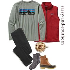 lazy fall morning by sassy-and-southern on Polyvore featuring Patagonia, Madewell, Charter Club, L.L.Bean, patagonia and sassysouthernfall