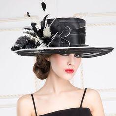 Summer white dress hats for women