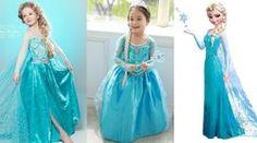 Patrón de disfraz de fantasia de la princesa Frozen