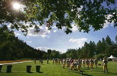 Aug. 9, 2007 - ASU works out on the field at Camp Tontozona. (AZ Republic)
