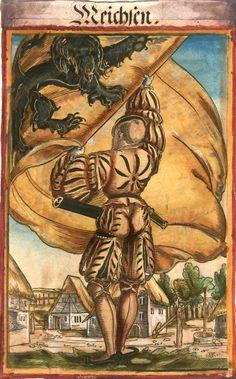 """Meißen [Meichsen] (f°15) -- Koebel, Jacob, """"Wapen des heyligen römischen Reichs teutscher Nation"""", Franckfurth am Main, 1545 [BSB Ms. Rar. 2155]"""