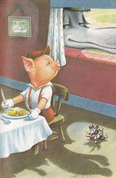 The Three Little Pigs retold by Vera Southgate, M.A., B. Com. illustrations by Robert Lumley A LADYBIRD 'Easy-Reading' Book Series 606D Verlag: Ladybird Books LTD (Leicestershire / England; 1965) ex libris MTP