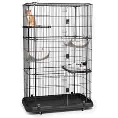An extra large home designed for housing several cats or kittens, exceptional engineering makes the cat cage easy to assemble and provides a paw friendly design with no gaps or pinch points.