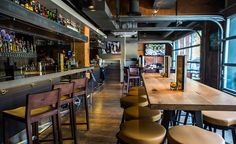 Henry's Tavern, Hospitality Design, Restaurant Design, Menu Design, Interior Design by Bar Napkin Productions #BarNapkinProductions