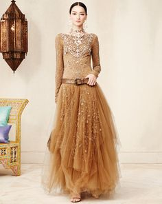 Beaded Sarena Gown - Collection Apparel Evening Dresses - Ralph Lauren http://www