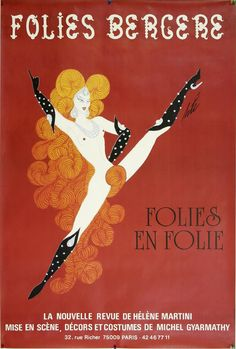 """Daily Inspiration: Folies Bergere Poster by Erté"""