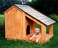 dog house with covered porch... i think lexi would LOVE this and dex would be standing on the roof! haha
