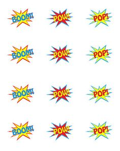 Need help with your superhero party theme? Here are some vintage inspired free printables perfect for any type of superhero-themed event. There are a variety of sizes available including a punch size and cupcake toppers. Superhero Baby Shower, Superhero Theme Party, Party Themes, Party Ideas, Superhero Cutouts, Superhero Teacher, Superhero Cake, Avengers Birthday, Batman Birthday