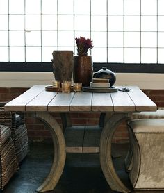 Bernhardt Interiors | Margot Dining Table, solid ash plank top Bernhardt Furniture, Living Room Redo, Trendy Home Decor, Home Entertainment, Decoration, Kitchen Dining, Home Furniture, Dining Tables, Dining Rooms