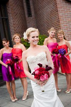 Bold Bridesmaids Color Palette!    Photography by janaeshields.com