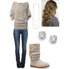 Winter outfit/ Fall outfit by marybosler on Polyvore uggcheapshop.com    cheap ugg boots for Christmas  gifts. lowest price.  must have!!!