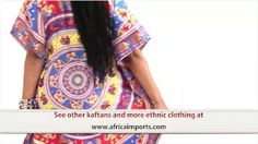 Kaftan Dress with Elephants and Butterflys - Africa Imports - YouTube