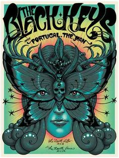 Jeff Soto Poster THE BLACK KEYS FRANCE VERT