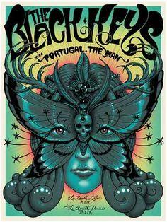 Jeff Soto Poster THE BLACK KEYS FRANCE VERT
