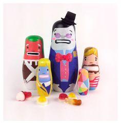 Willy Wonka nesting dolls by Sketchinc