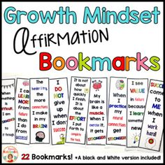 Please note that this product can also be found in a money saving bundle HERE. These Growth Mindset Bookmarks are perfect for