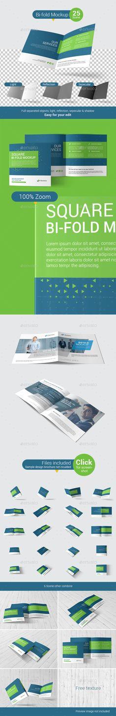 A4 Landscape Brochure Mock-Up Brochures, A4 and Mockup