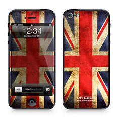 "Da Code ™ Skin for iPhone 5: ""U.K., Britain, United Kingdom"" (Flags Series) – USD $ 9.99"
