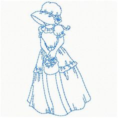 machine embroidery redwork designs ladies | Sunbonnet Ladies - | OregonPatchWorks