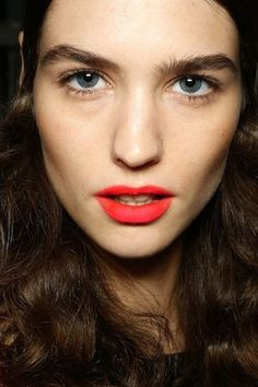 Beauty Inspiration: Bright Orange-Red Matte Lips