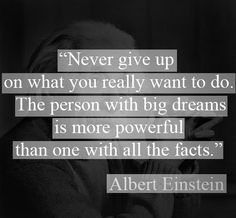 I didn't check to see if Albert Einstein actually said this but I still think that the words are wonderful regardless. Never Give Up Quotes, Giving Up Quotes, Great Quotes, Quotes To Live By, Me Quotes, Motivational Quotes, Famous Quotes, Dream Big Quotes, Motivational Thoughts