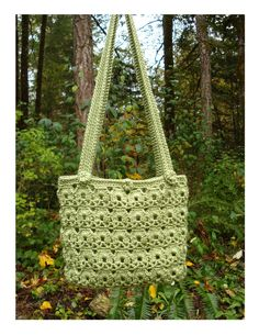 Uptown Tote Bag - PA-210 - Show off your crochet skills with a tote bag in an intricate and interesting pattern. This fabulous project is for a crocheter with intermediate crochet skills and the pattern PDF can be purchased at my Craftsy Pattern Store for $3.29, just click on the photo.