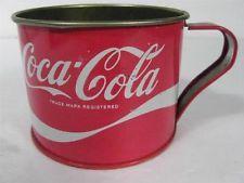 Very Rare Coca Cola tin cup - unknown date. Unique collectible!