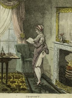 """""""Comfort"""", c.1815  I guess it's erotica...strange though. Because she's reading...it's not a traditional male gaze."""