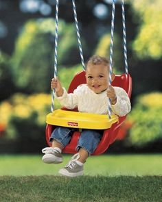 Cooper: Fisher-Price Infant To Toddler Swing in Red
