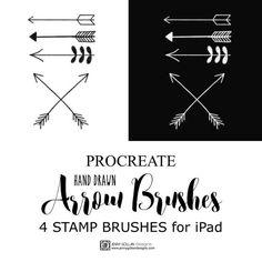 Procreate Brushes iPad Pro Arrow Brushes by JennyGollanStudio