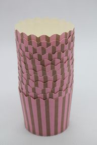 25 Dark Pink With Brown Striped Greaseproof Paper Baking Cups,Cake Cups,Muffin Cups,Candy Cup,Nut Ice cream Treat Dessert Portion Cups, $3.99