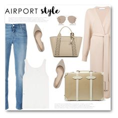 """""""Jet Set: Airport Style"""" by bliznec ❤ liked on Polyvore featuring Givenchy, Ryan Roche, Chloé, Marc Fisher LTD, Globe-Trotter, Henri Bendel, Christian Dior, airportstyle, polyvoreeditorial and polyvorecontest"""