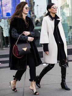 fab x 2. Gio striding it out in Milan. #GiovannaBattaglia