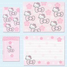Hello Kitty Pink Bow Letter Set