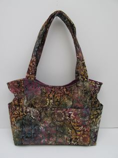 Medium Purple Fall Purse, Batik Fall Winter Bag, Purple Handbag, Quilted Purse,Tote Bag, Diaper Bag, Shoulder Bag, Fall Purses, Quilted Tote by JustBeautiful161 on Etsy