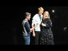 Adele brings fan with Adele tattoo on stage - Glasgow 25/03/16 - YouTube