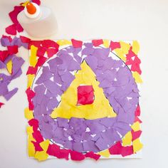 Torn Paper Shape Collage