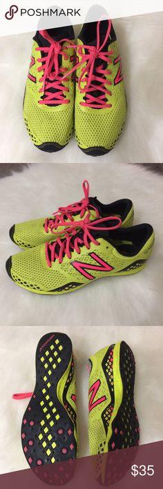 Women's new balance neon running shoes size 7.5